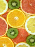 Slices of fruits. Set of different fresh fruits Royalty Free Stock Image