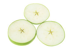 Slices of Granny Smith Apple Stock Images