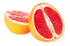 Slices of grapefruit Stock Images