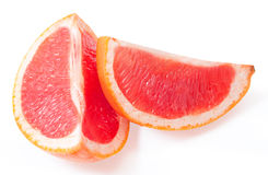 Slices of grapefruit stock image