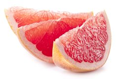 Slices of grapefruit. royalty free stock photo