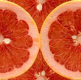 Slices of grapefruit. Slices of pink grapefruit Royalty Free Stock Images
