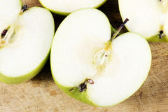 Slices of green apple Stock Photography