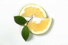 Slices of green grapefruit Royalty Free Stock Image