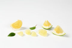 Slices of green grapefruit Royalty Free Stock Images