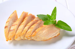 Slices of grilled chicken breast Royalty Free Stock Photo