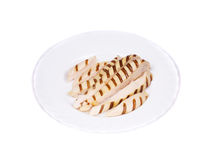 Slices of grilled chicken breast. Royalty Free Stock Photo