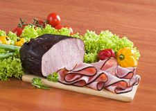 Slices of ham Royalty Free Stock Photo