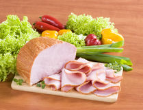 Slices of ham Royalty Free Stock Photography
