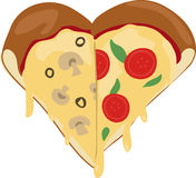 Slices Heart Stock Photography