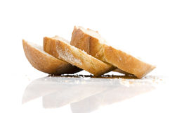 Slices of home baked bread Royalty Free Stock Images