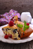 Slices of homemade cake Royalty Free Stock Images