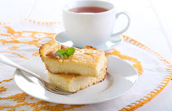 Slices of homemade cheesecake Stock Image
