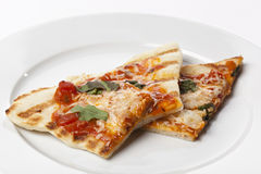 Slices of Homemade margarita pizza Royalty Free Stock Images