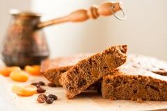 Slices of honey-cake Stock Photos