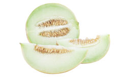 Slices of Honeydew stock photography