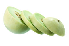 Slices of Honeydew Melon. On White Background Stock Image