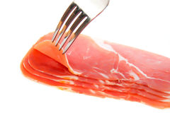 Slices of jamon Royalty Free Stock Image