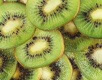 Slices of juicy kiwi stock photo