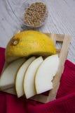 Slices of juicy melon Royalty Free Stock Photos