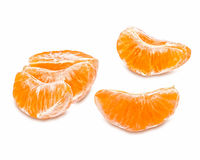 Slices of juicy tangerine Royalty Free Stock Photography