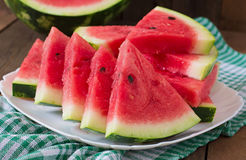 Slices of juicy and tasty watermelon Royalty Free Stock Photography