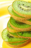 Slices of kiwi close-up Stock Image