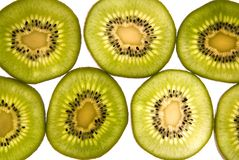 Slices of Kiwi for food on white background Stock Photography