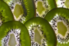 Slices of Kiwi Fruit. Juicy delicious vitamin rich slices of Kiwi Fruit Stock Image