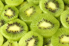 Slices of kiwi fruit. Horizontal closeup Stock Photography