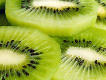 Slices of kiwi fruit. Close-up of fresh cut sliced kiwi fruit Royalty Free Stock Photo