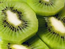 Slices of kiwi fruit. Close-up of fresh cut sliced kiwi fruit Stock Photography