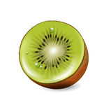 Slices kiwi fruit isolated on white Royalty Free Stock Photos