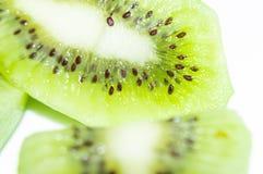 Slices of kiwi fruit. Sweet and healthy kiwi fruit royalty free stock images