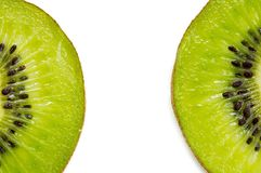 Slices of kiwi fruit Stock Photos