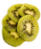 Slices of kiwi fruits royalty free stock images