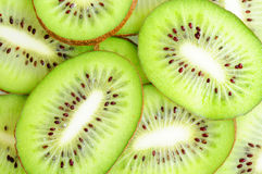 Slices of kiwi fruits Stock Images