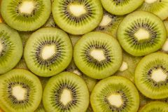 Slices of kiwi on a white Royalty Free Stock Image