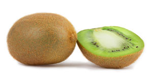 Slices of kiwi on a white Stock Images