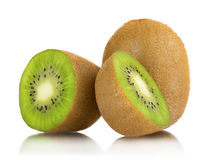 Slices of kiwi on a white Stock Image