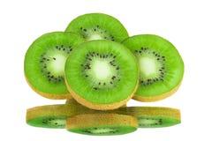 Slices of kiwi on a white Stock Photography