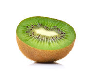 Slices of a kiwi on  white background Stock Images