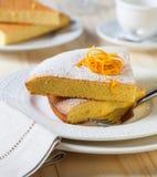 Slices of lemon cake Stock Photos