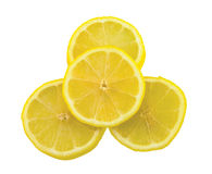 Slices of lemon isolated Royalty Free Stock Image