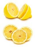 Slices of lemon. Isolated on white background Royalty Free Stock Image