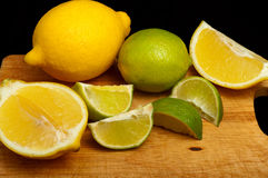 Slices of lemon and lime Royalty Free Stock Images