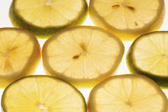 Slices of Lemon and Lime Royalty Free Stock Image