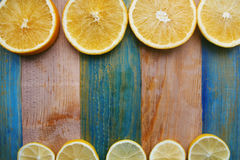 Slices of lemon and orange Stock Images
