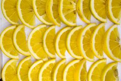 Slices lemons stock photo