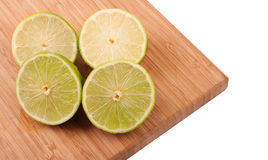 Slices of lemons and limes Royalty Free Stock Photos